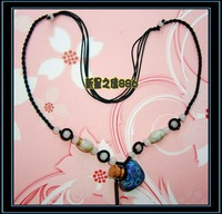 Accessories essential oil bottle necklace coffee beads heart polymer clay pendant