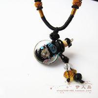 Gift fashion colored glaze essential oil bottle necklace pendant perfume bottle necklace