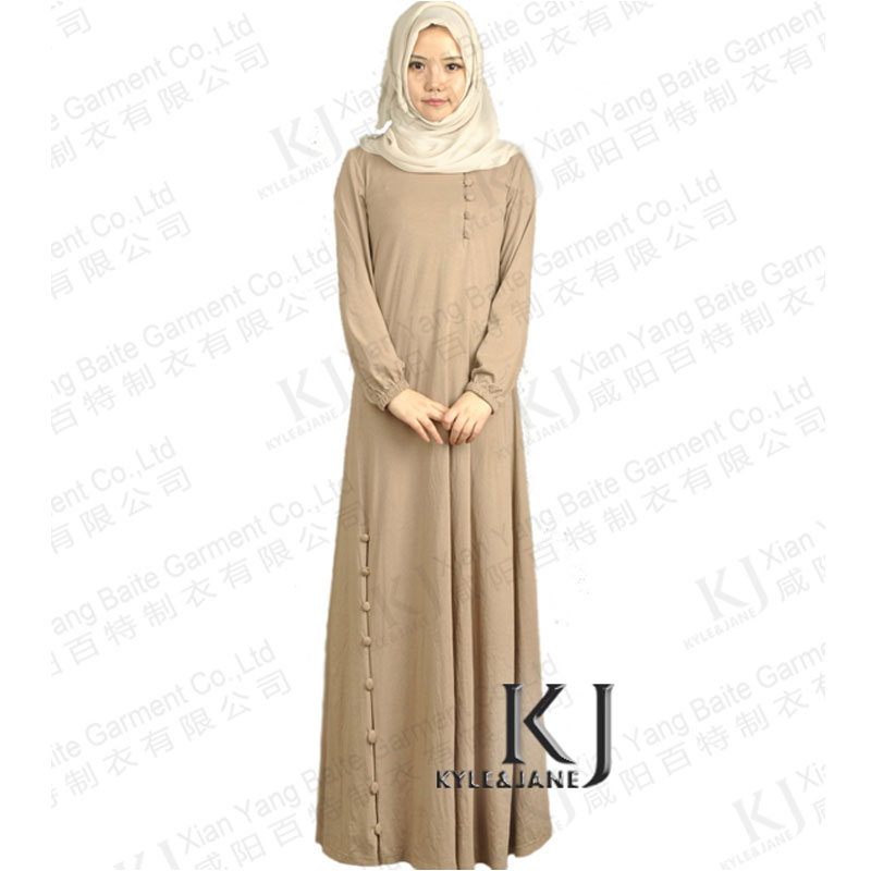 Islamic dubai style 100 knitted cotton women s abaya jilbab muslim