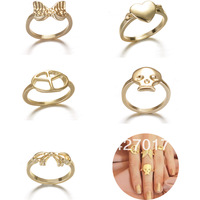 Above Knuckle Rings Party Jewelry Fashion Above MiNi of Finger Golden Peace Heart Skull Wings Bowknot  20Pcs/Lot