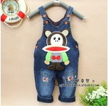 2013 new autumn winter  boys girls jeans overall infant suspenders trousers   free shipping  rompers