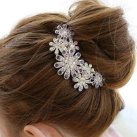 Crystal diamond hair accessory rhinestone hair accessory accessories hairpin insert comb hair pin