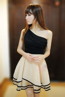 Summer sexy women's 2013 oblique one-piece dress princess dress
