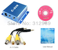 Mini C-DVR 1CH VIDEO 1CH AUDIO Support TF SDHC Card Up To 32GB CCTV Video Recorder DVR Cameras Time!!!