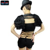 2013 new Tassel kaross Outerwear cape All-match ds top hiphop jazz costume