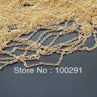 Inventory sale(lianzi01)Wholesale !!! 10meter/roll 1.3 * 2.7MM golden metal chain O-chain lengthening chain tails