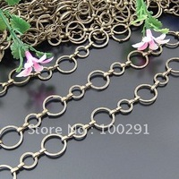 Free ship!!! 100meters 12+8mm jewelry finding extend chain bronze tone jewelry chain