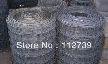 Hing Knot Or Fixed Knot Roll Field Fence, Galvanized Appearance Treatment, Length 50m Or 100m, Roll Wire Diameter 32cm