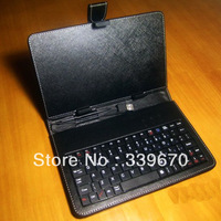 7'' tablet leather case with keyboard for tablet PC DHL free shipping and drop shipping wholesale 150pcs