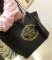 Fashion vintage hellojj women's handbag high quality print picture one shoulder handbag casual big bag shopping bag