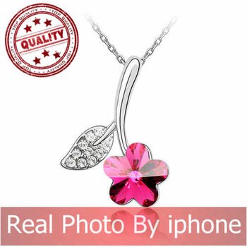 2013 new white gold Austrian crystal necklace - Ruhuasiyu 85803
