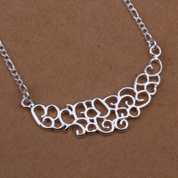 Free Shipping 925 Sterling Silver Necklace Fine Fashion Cute Silver Jewelry Necklace Chains Pendant Top Quality SMTN288
