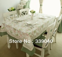 Upscale French pastoral style flower stitching cloth tablecloths tablecloth table cloth rectangle table cloth table cloth luxury
