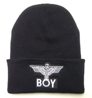 Free Shipping Winter New BOY LONDON Eagles Knitted Wool Cap Fashion Embroidered Black Warm Boy Beanies Hats