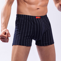 Langsha 100% cotton boxer panties comfortable breathable men's mid waist shorts 100% male cotton panties 5