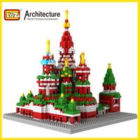 Free shipping LOZ architecture 3D plastic building blocks sets eductional kids toys building Vasile Assumption Cathedral Russian