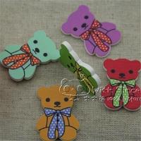 Free shipping 100pcs 2013 new  DIY phone case cartoon decorative scarf sweater pure wood garment accessories 6901