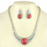 Punk Style Stone Big Chain Choker Necklace Set