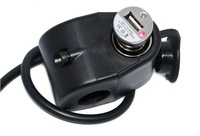 12V Motorcycle charge socket waterproof WITH MINI USB Cigarette Lighter Charger power supply charge For cell phone GPS