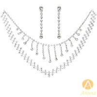 [Arinna Jewelry]Wholesale CZ Diamond Wedding Engagement Sets For Lover Women Jewelry sets Necklace+earrings G0209