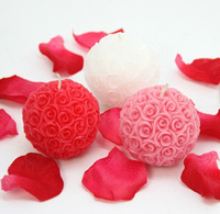 Hot sales Christmas candles , party candles ,wedding candle, Christmas gift,ball-flower candle