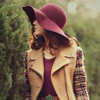 100% wool ladies floppy hat large brim winter hat