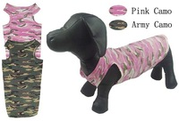 Free shipping ! Pet dog clothes pudding-pipe dogs t-shirt 100% Camouflage cotton dog clothing vest new arrival in 2 colors
