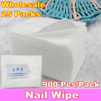Wholesale 900pcs/pack Professional Lint Free Nail Wipes Soft Cotton Nail Wipe Polish Remover, 25 packs/lot + Free Shipping