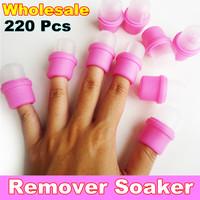 Wholesale 220 x Wearable Nail Soaker & Nail Art Polish Remover Soaker Acrylic Artificial Tip Tool / Treatment Barrel