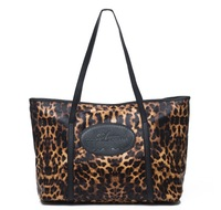 2013 Fashion Leopard Women's Leather Handbags Vintage shoulder bag fall FREE SHIPPING