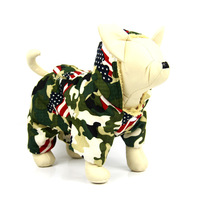 Free shipping !  Camouflage dog clothing winter clothes for dog double layer plus velvet pet clothes dog clothes