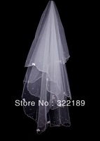 Free shipping bride white veil, the manual order bead bow
