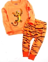 Topsale Children Clothing Baby Boys Pajamas  Best price tiger 100%cotton Retail 1lot=2pcs=1set=1T-shirt+1pant  CZ009