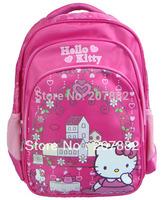 30pcs/lot 2013 Fashion Hello Kitty School Bag for Girds Cartoon School Backpack Rucksack Canves A2974 Free Shipping Via DHL