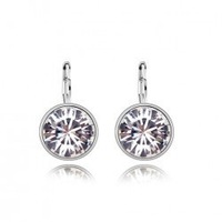 Wholesale White Gold plated austrian crystal drop earrings fashion Jewelry GE137