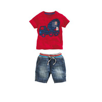 Free shipping 2013 fashion baby boys short sleeve shirt shorts set summer kids brand name Z children's casual clothes suit