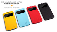 HK Free Ship!Popular Nillkin Cell Phone Case for Samsung I9295 Leather Case for GALAXY S4 Active with Retail Box