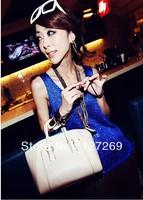 2013 Hot Sale Retro Crocodile Grain Handbag Metal Hasp Shoulder And Totes Dual-use Handbag 3Colors BG0032 Free Shipping
