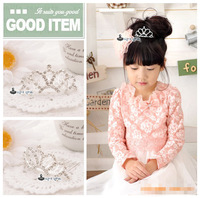 Free Shipping  Wholesale Bridal Wedding Party Mini Tiara Crown children Hair Accessories for girls
