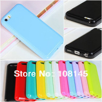 for iphone 5C case jelly cover candy colors TOP quality TPU material soft case  1pcs a lot, free shipping