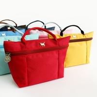 Jetoy candy color handbag cosmetic bag multi purpose small tote bag pouch navi