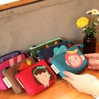 Cartoon animal felt bag mobile phone bag camera bag cosmetic storage bag
