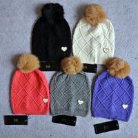 Free shipping 2014 winter new fashion genuine fur ball decoration diamond fashion casual woolen warm hat for women