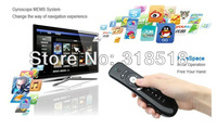 2.4GHz Mini Wireless Gyroscope Fly Air Mouse T2 MF100 Android Remote Control 3D Sense Motion Stick Gaming TV Box MK802IV Laptops