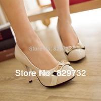 women pumps 2014 autumn fashion white high-heeled shoes japanned leather ol elegant platform thin heels round toe single shoes