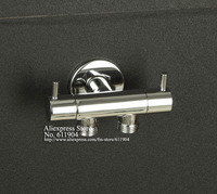 "Chrome One Inltet Double Outlet 1/2"" Angle Stop Ceramic Valves With Double Switch"