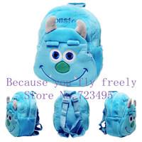 Monsters University James Sullivan 2014 3D the children's cartoons bags / plush small backpacks for boys and girls kids gifts