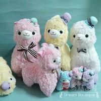 hot selling Alpacasso alpaca horse plush dolls 12 inch / 40cm send random colour free shipping