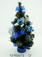 wholsale 5pcs/Lot 33cm blue christmas tree christmas sets office desk decoration christmas decoration  =sd5Pc