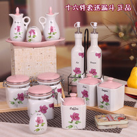 Ceramic spice jar 16 set fashion oil bottle sauce pot box sambonet kitchen supplies